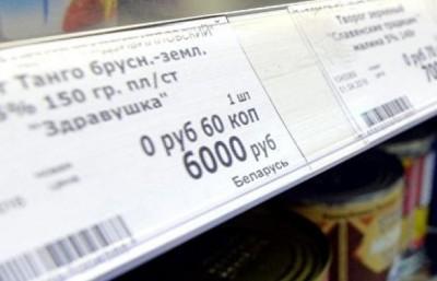 Печать ценников на чековом принтере